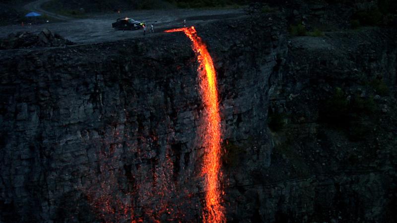 adam frelin, fire fall, public art, artists