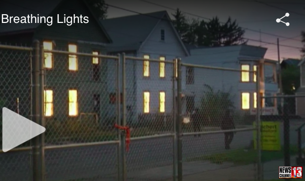 WNYC breathing lights Channel 13 NBC albany schenectady troy illuminating blight